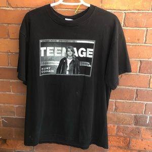 Kurt Cobain Graphic Oversized Tee VINTAGE 2002